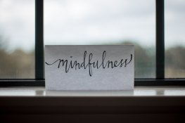 FHT member logo Picture of the word Mindfulness Calm Sundays logo - person seated with legs crossed, poppy in one hand and lotus flower in the other.